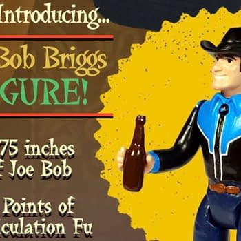 Fright Rags will be selling a Joe Bob Briggs figure for five days only on April 21st.