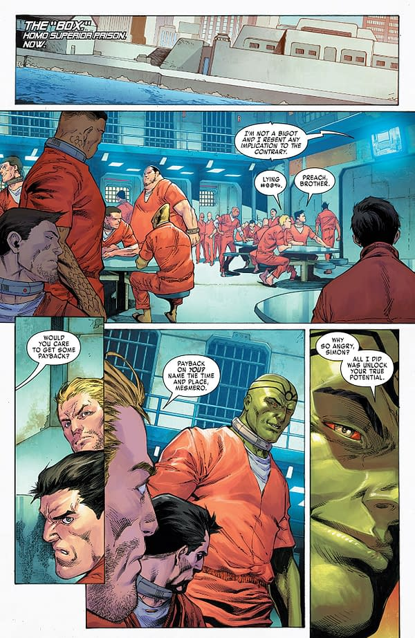 X-Men: Gold #21 art by Diego Bernard, JP Mayer, and Arif Prianto