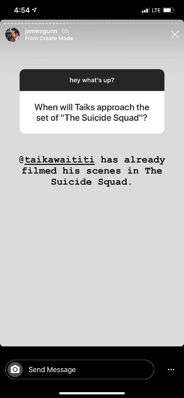 Taika Waititi, Margot Robbie Have Already Filmed Parts of'Suicide Squad' According to James Gunn