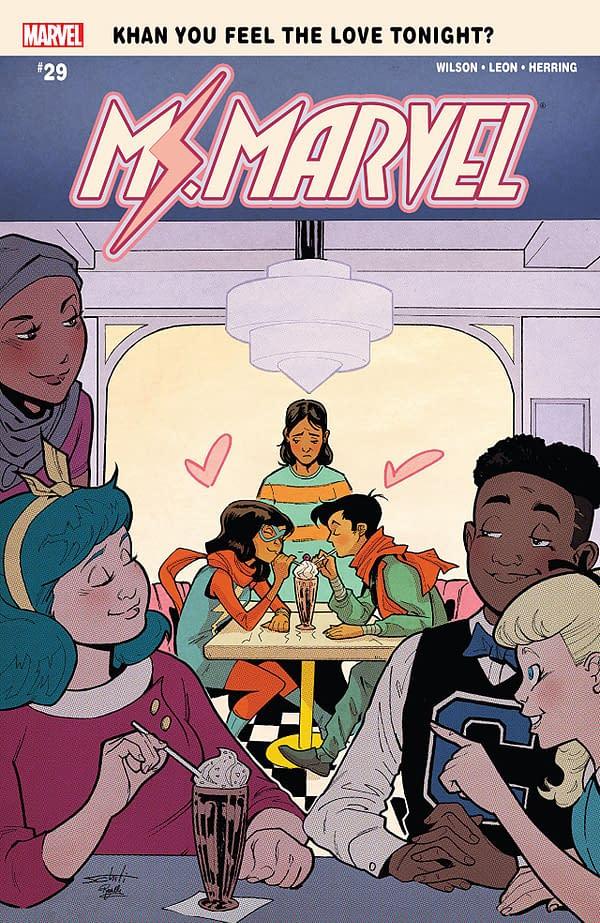 Ms. Marvel #29 cover Valerio Schiti