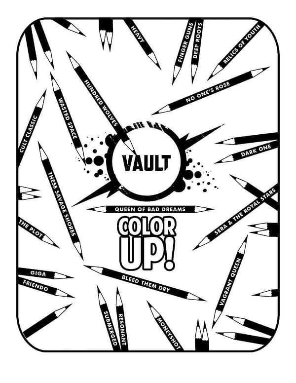 The cover to Vault Color Up, a free digital coloring book from Vault Comics.