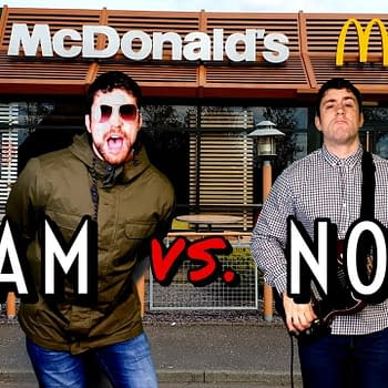 Joe Hendry's McDonalds-themed Oasis cover has racked up views all over social media.