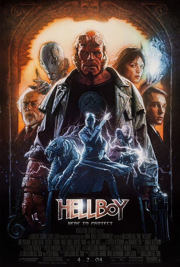 The official poster for Hellboy (2004). Image Credit: Columbia Pictures
