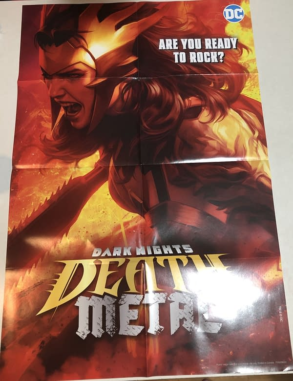 Death Metal #1 Wonder Woman Variant Cover Promotional Poster