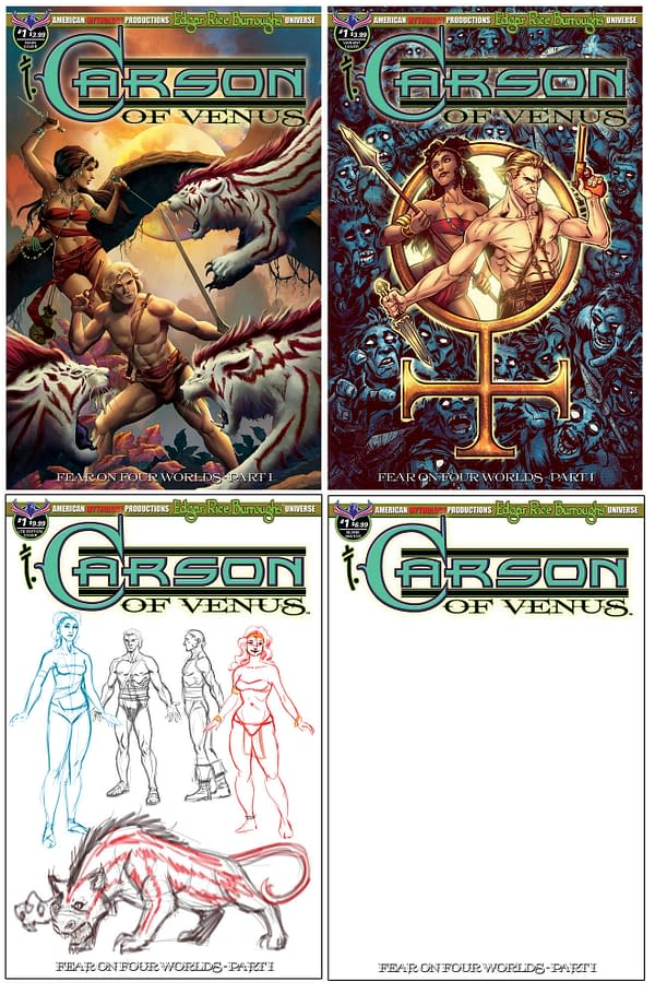 American Mythology Launches Edgar Rice Burroughs Comicverse with Super-Mega-Crossover Event