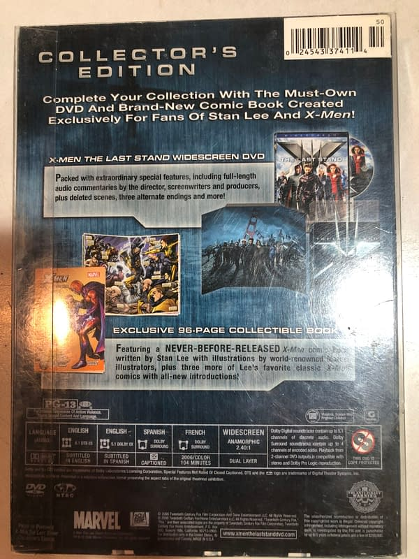 X-Men The Last Stand Collector's Edition Back Cover