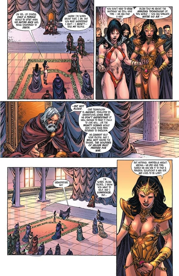 Erik Burnham's Writer's Commentary on Vampirella/Dejah Thoris #2