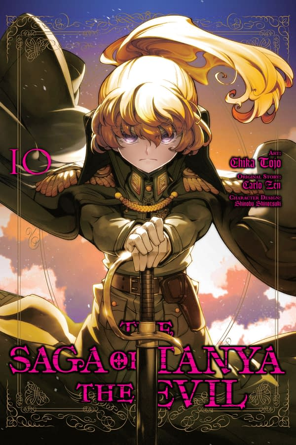The cover of The Saga of Tanya the Evil, Vol. 10 (manga)by Yen Press.