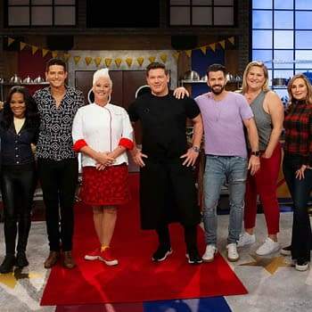 The cast of Worst Cooks in America: Celebrity Edition, courtesy of Food Network.