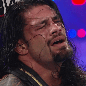 Roman Reigns looking like the King he is. [Broadcast Screencap]