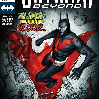Batman Beyond #20 cover by Viktor Kalvachev
