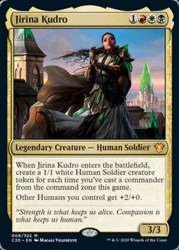 Jirina Kudro, a card from the Commander 2020 set for Magic: The Gathering.