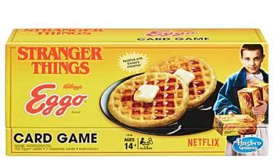 Stranger Things Card Game Eggo Box