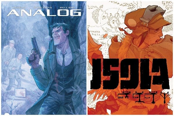 Analog #1 cover by David OSullivan and Isola #1 cover by Karl Kerschl
