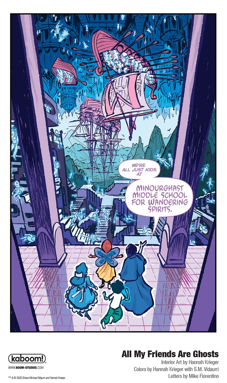 A Foul-Mouthed Phumphing Preview of Middle Grade OGN All My Friends are Ghosts