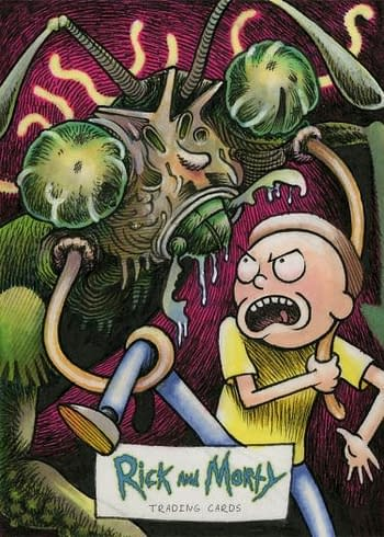 Rick and Morty Season 1 Trading Cards Sketch 2