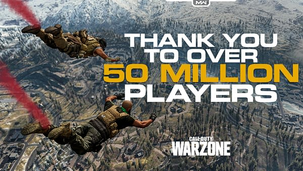 50 Million players have taken the dive into Call Of Duty Warzone.