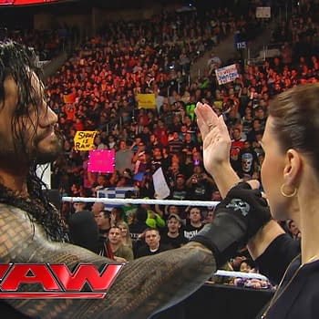 """Roman Reigns reminds Stephanie McMahon that he is the """"authority"""" in WWE: Raw, March 21, 2016"""