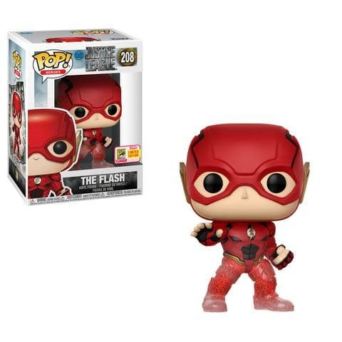The Flash Red,Gold /& Silver Chrome SDCC 2018 Exclusive Pop Vinyl
