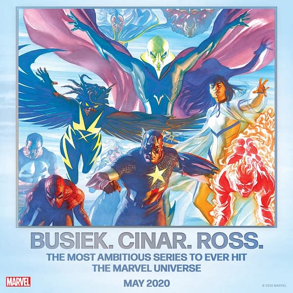 """Marvel Teases """"Most Ambitious Series Ever"""" by Busiek, Ross, and Cinar... But Do We Already Have the Details?"""