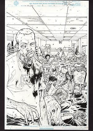 Comic Connect Walking Dead Art Page Auction Issue 1 Moore