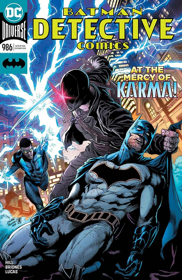 Batman: Detective Comics #986 cover by Eduardo Pansica, Julio Ferreira, and Adriano Lucas