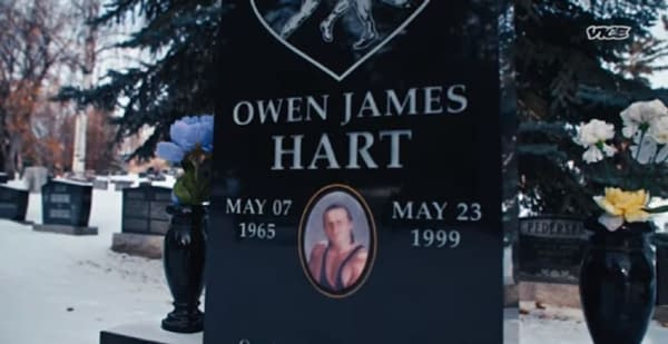 The second season finale of Dark Side of the Ring focuses on Owen Hart, courtesy of Vice TV.