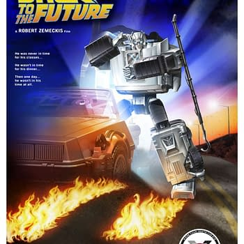 Transfomers X  Back to the Future Gigawatt Autobot Hasbro Reveal