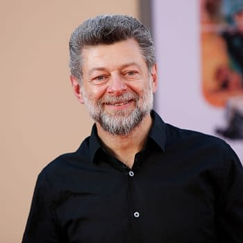 """Andy Serkis at the """"Once Upon a Time in Hollywood"""" Premiere at the TCL Chinese Theater IMAX on July 22, 2019 in Los Angeles, CA. Editorial credit: Kathy Hutchins / Shutterstock.com"""