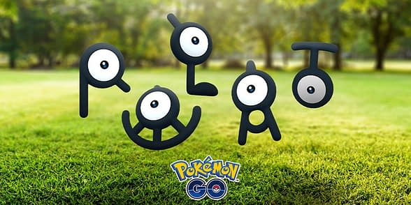 Shiny Unown (not pictured) will be available only during Enigma Week. Credit: Niantic