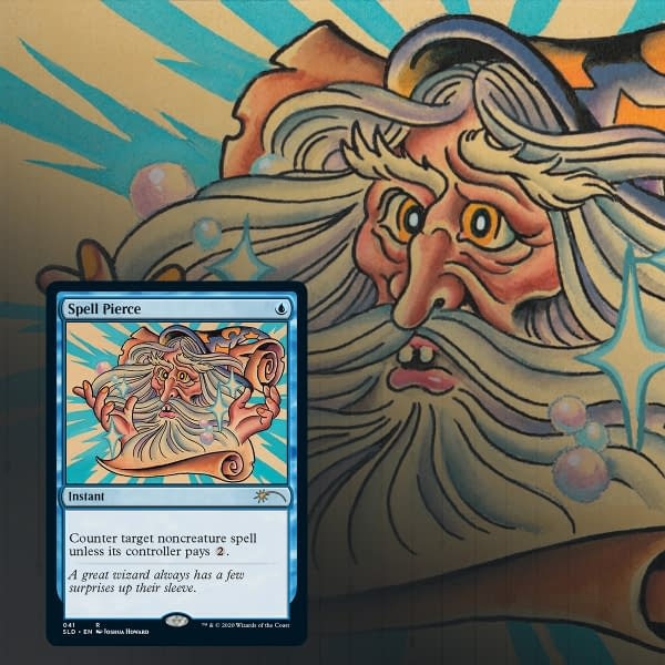 Spell Pierce, the first of our Secret Lair previews for Magic: The Gathering!
