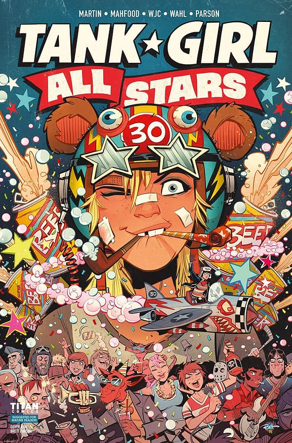 Tank Girl: All Stars #1 cover by Brett Parson