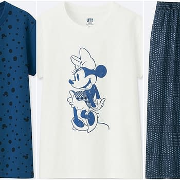 mickey blue uniqlo line