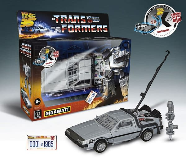 Transfomers X Back to the Future Gigawatt Autobot Hasbro Reveal