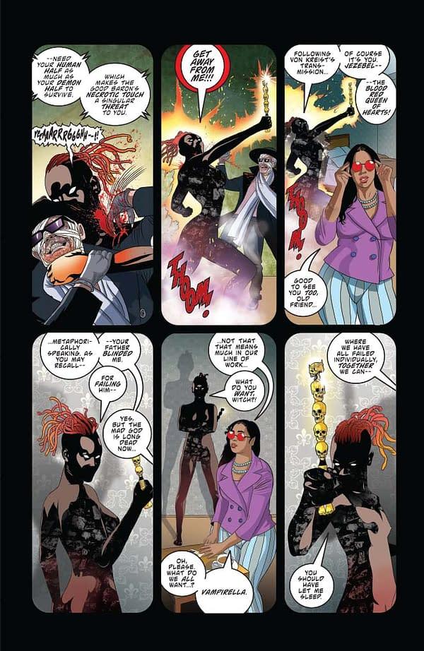 Christopher Priest's Writer's Commentary on Vampirella #5