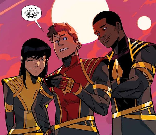 (Spoiler), (Spoiler) and (Spoiler are the New Power Rangers in Mighty Morphin' #40, Out Today. Um, Spoilers.