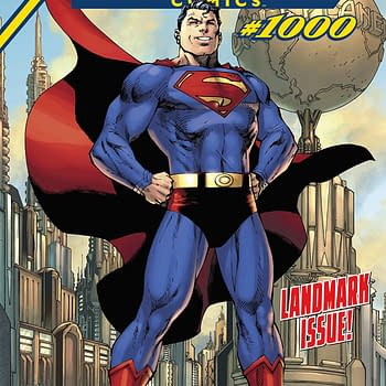 Action Comics #1000 cover by Jim Lee, Scott Williams, and Alex Sinclair