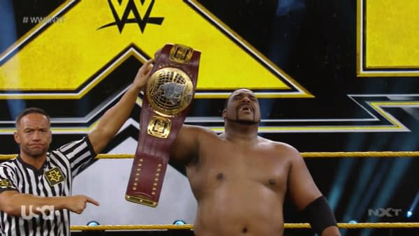 Keith Lee retains his North American Championship on NXT
