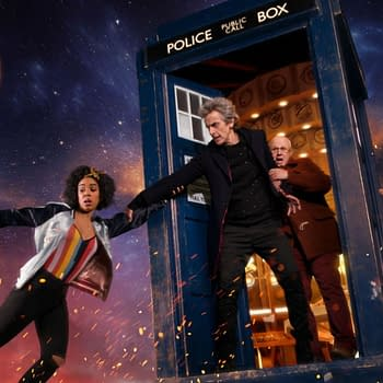 Peter Capaldi, Pearl Mackie, and Matt Lucas in Doctor Who (Image: BBC)