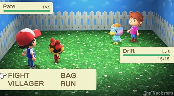 This talented Animal Crossing: New Horizons fan recreated a Pokemon battle in-game.