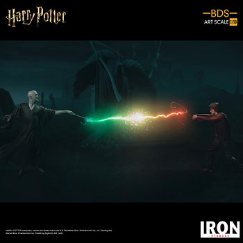 Harry Potter and Voldemort Go Head to Head with Iron Studios