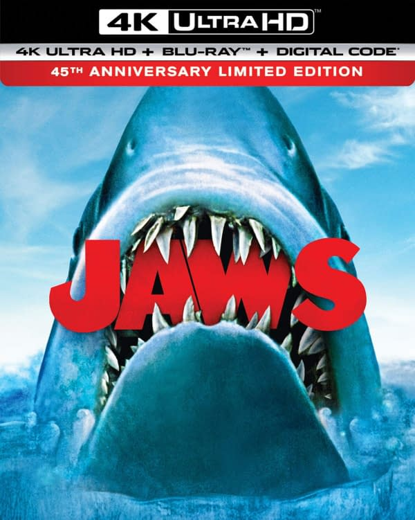 How would you like to own Jaws on Blu-ray? Courtesy of Universal Pictures.