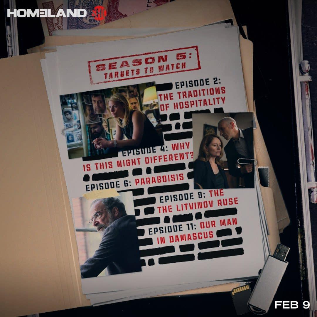 """Homeland"" Season 8 Premiere ""Deception Indicated"":"