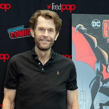 Kevin Conroy attends presser for Batman Beyond 20th Anniversary by Warner Brothers during New York Comic Con at Jacob Javits Center.