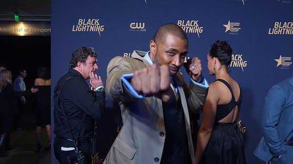 Cress Williams at Black Lightning Premiere