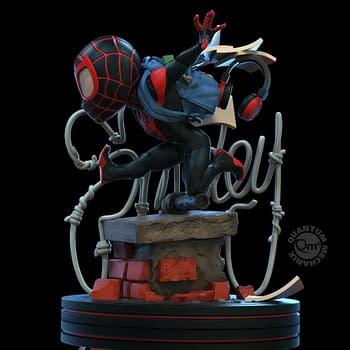 Miles Morales Spider-Man Q-Fig from Quantum Mechanix