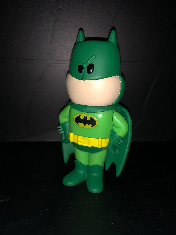 Funko Soda Vinyl Figure Emerald City Comic Con Exclusive Green Batman Figure, front view of figure.