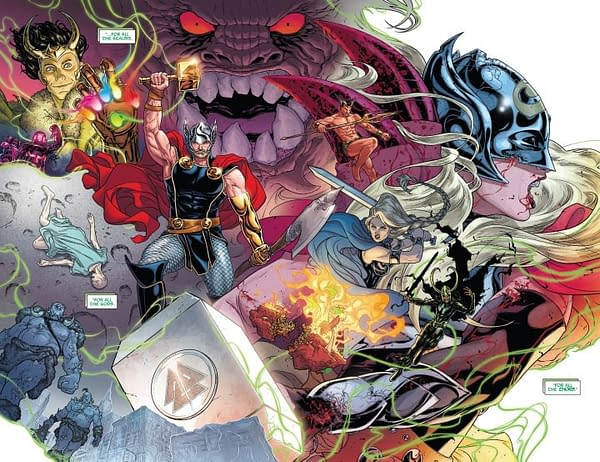 The Mighty Thor #700 art by Russell Dauterman and Matthew Wilson