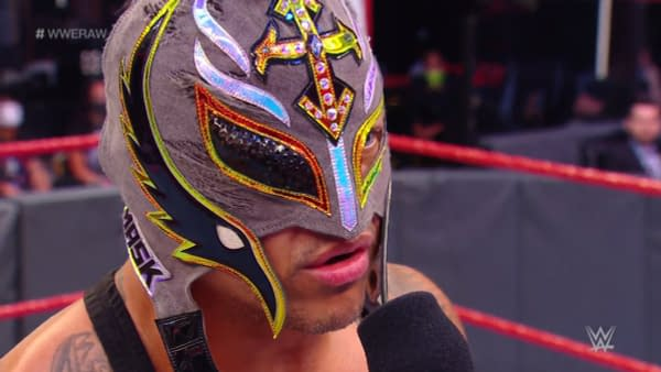 Rey Mysterio wants to rip out Seth Rollins's eyeball on WWE Raw.