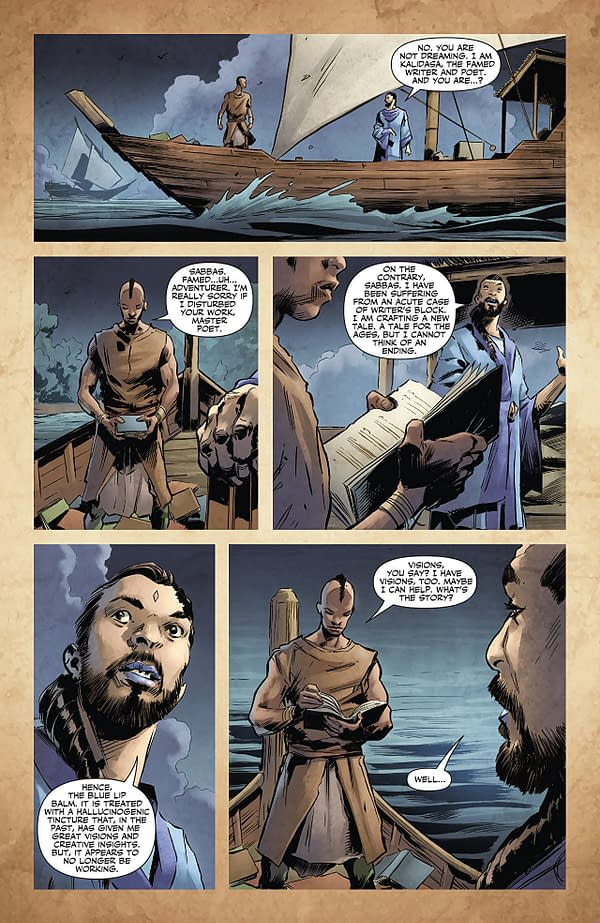 X-O Manowar #16 art by Trevor Hairsine and Brian Thies